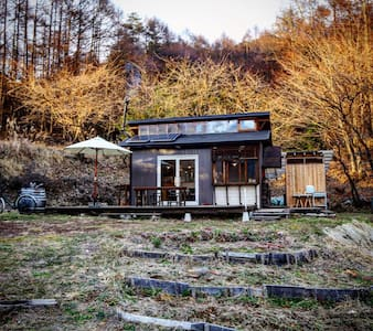 off-grid tiny cottage in nature