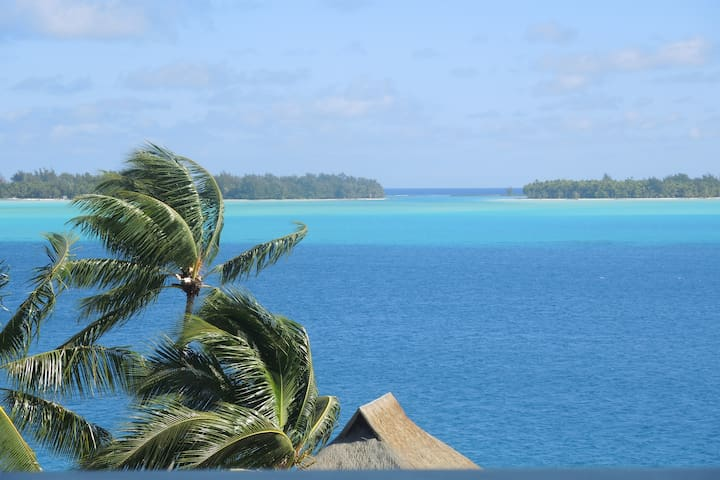 View of the lagoon from the balcony
