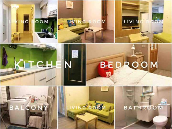 Cozy 2 rooms flat,  1min to Guting Station Exit 7!