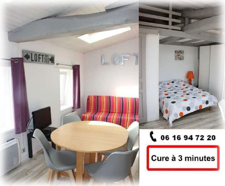 Studio loft centre ville proche cure Saujon 27m2
