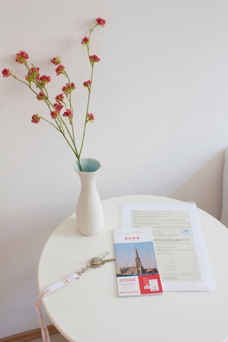 You receive all the informations about our apartment, a key and a city map in your mother-language or english.