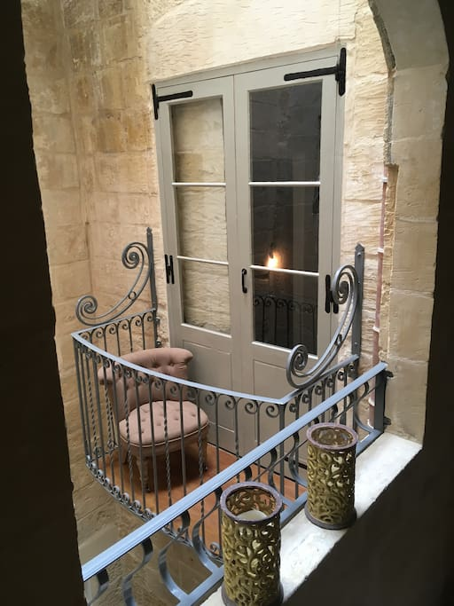 Very romantic Juliette balcony as part of the bedroom