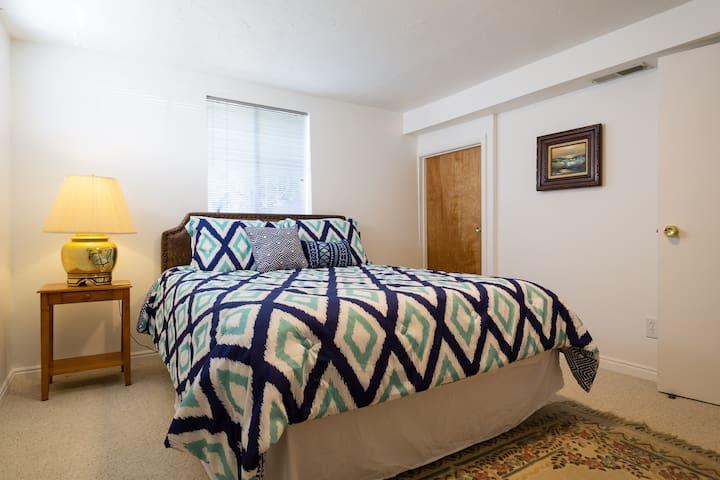 Bedroom 3. Comfortable memory foam mattress.  Walk in closet.