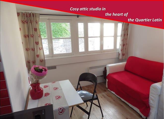 Attic studio Quartier Latin