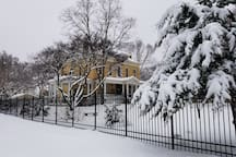 It's a winter wonderland at The BEALL MANSION.