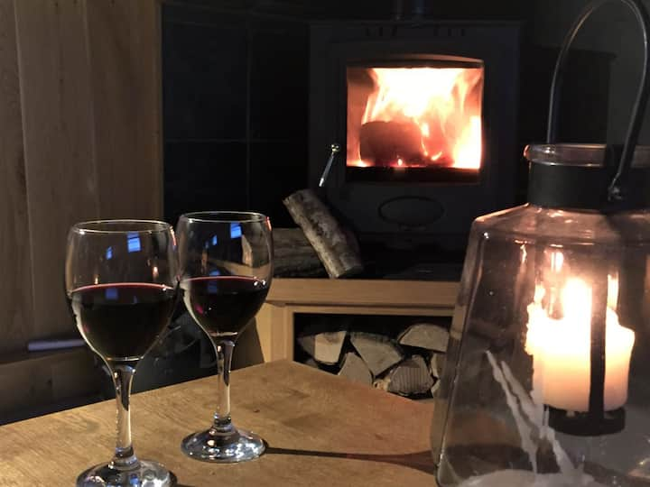 Cold weather, log burner and wine...