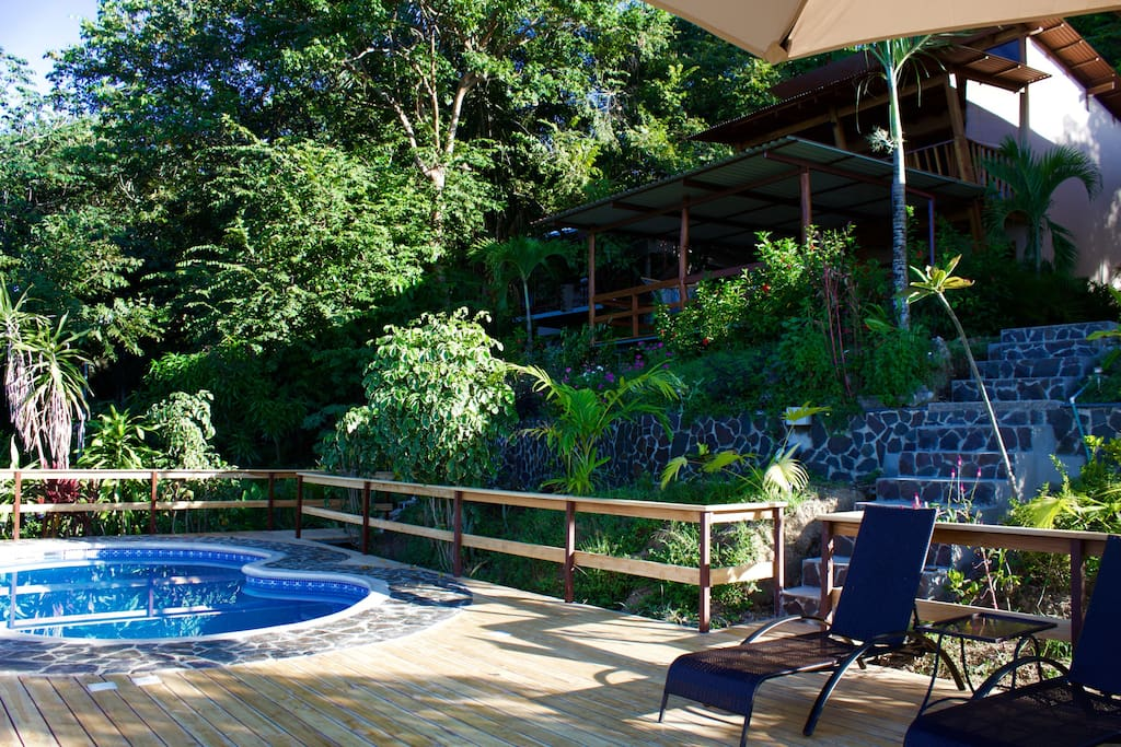 Villa Madera with private deckspace and balcony and shared pool below.