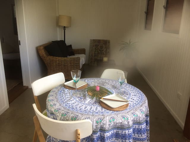 Your own private dining area outside your room.