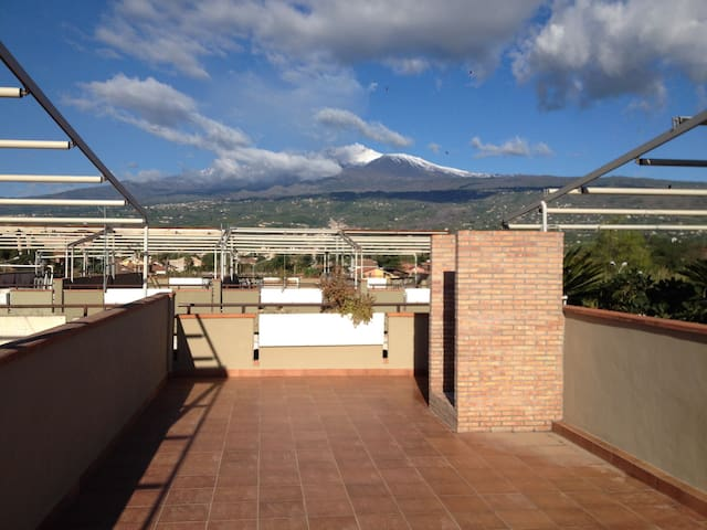 Terrazza vista Etna