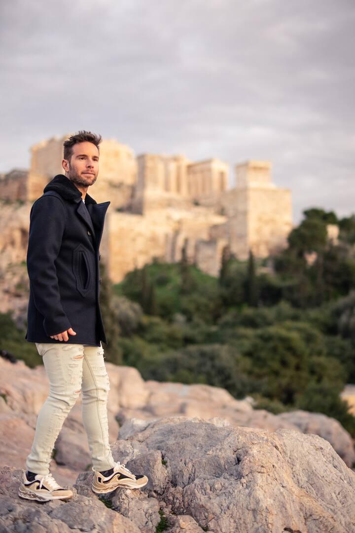 Areios pagos, view to Acropolis