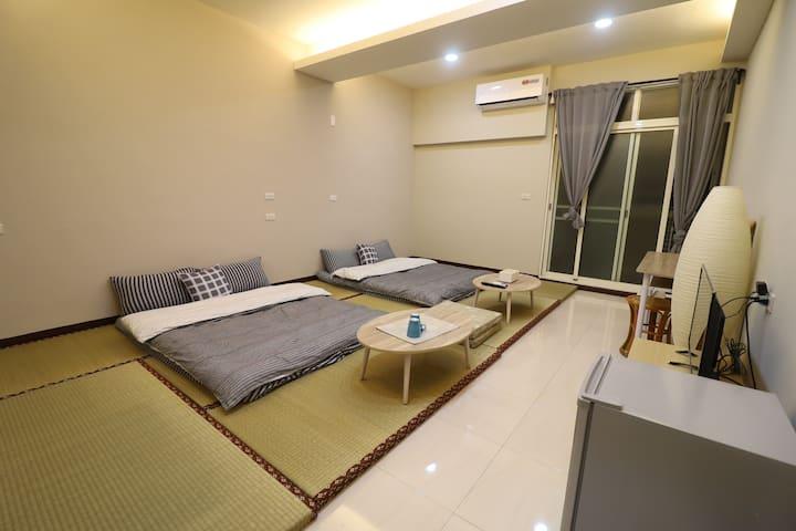 日式榻榻米寬敞舒適空間《適合家庭出遊、朋友出遊》優質日式榻榻米套房