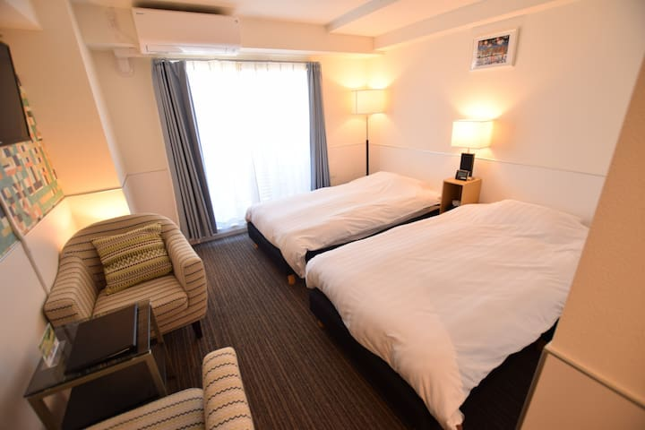 Constructed in 2018! Twin Room/Near Ueno,Asakusa