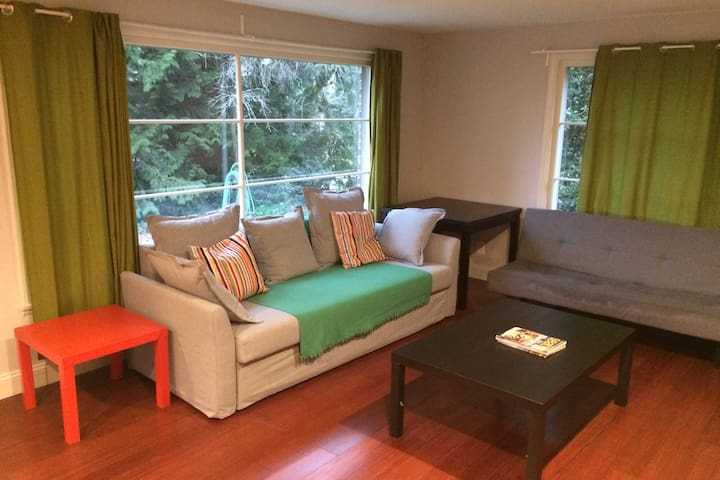 Spacious 3 bedroom, with 7beds, 15min to downtown.