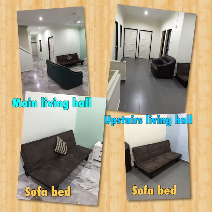 Extra sofa beds Total can sleep 25 people