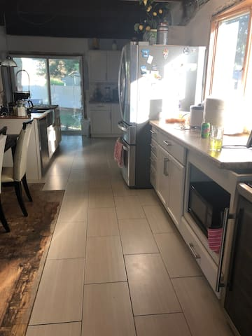 Kitchen area. All appliances/utensils/pots and pans are available for you to use