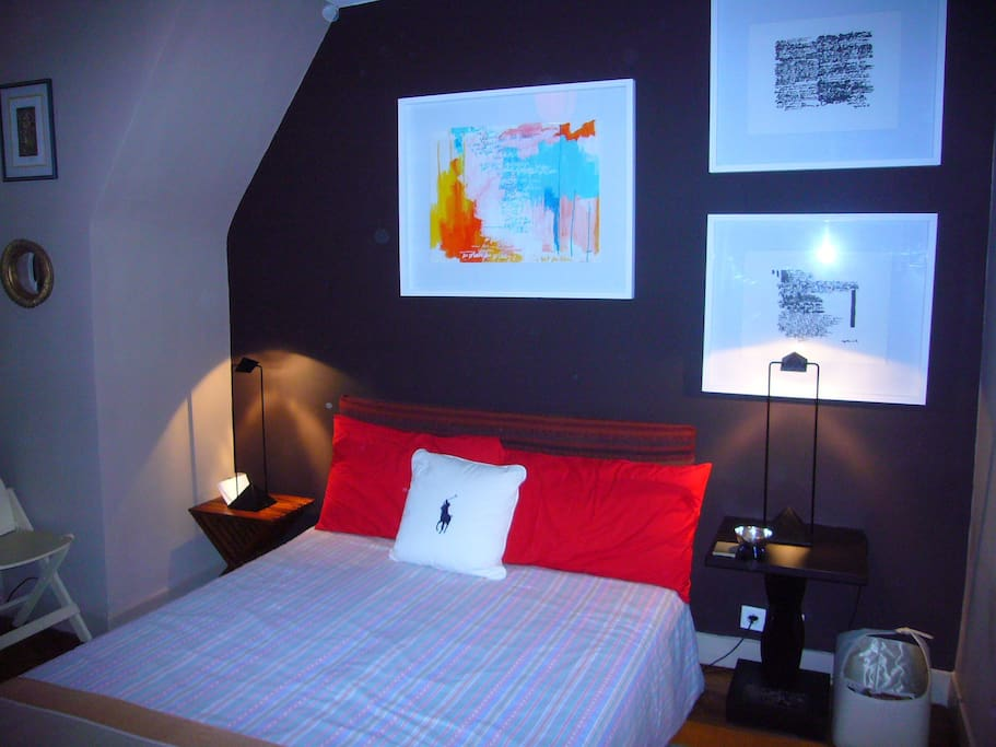 Your bedroom, quiet, comfy, facing East.