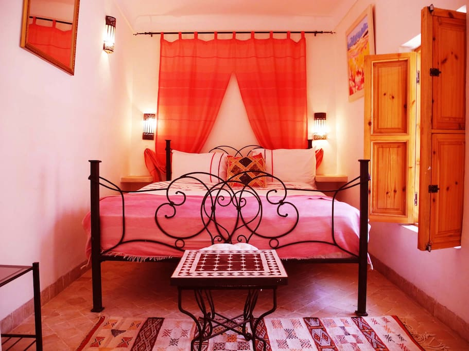 our pretty Pink Double bedroom