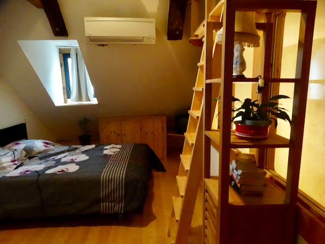 Room with ensuite bathroom in quiet road in Najac. - Najac - Huis