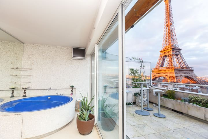 Penthouse + terrace + Tour Eiffel