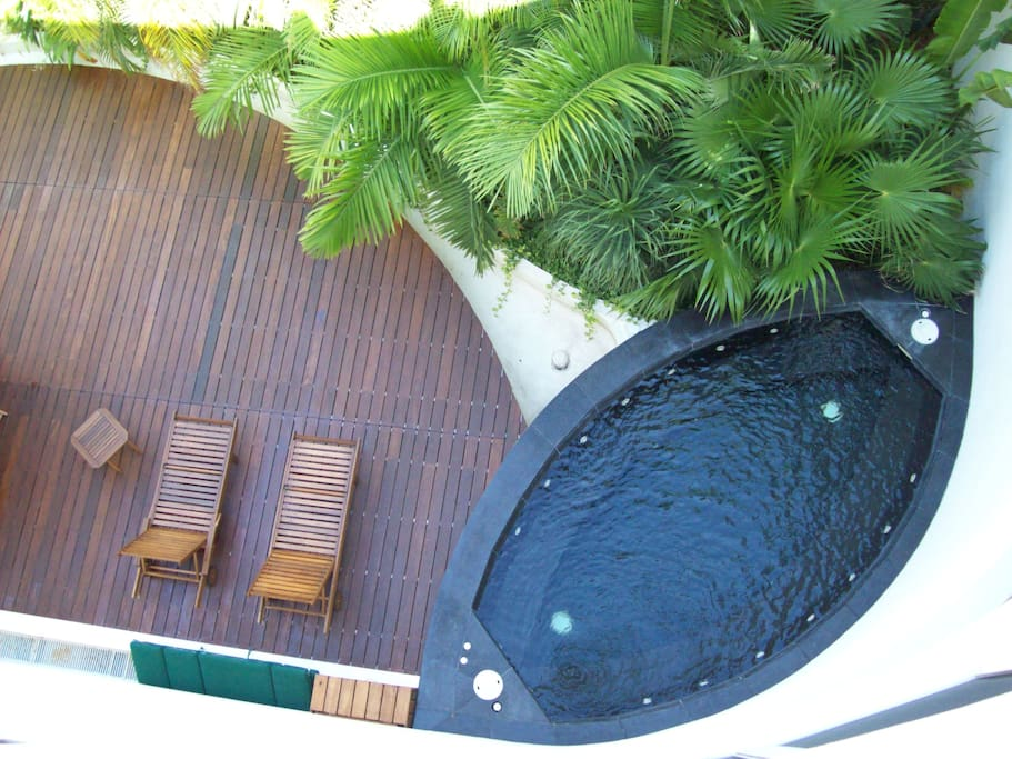 Common Area Deck in the Garden Area with Jacuzzi