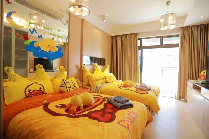 清晖园 小黄鸭精装双床房