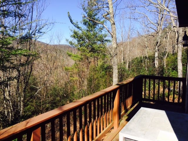 Cozy Echo Mountain View with firepit; close to Asheville, restaurants & more! - Fairview - House
