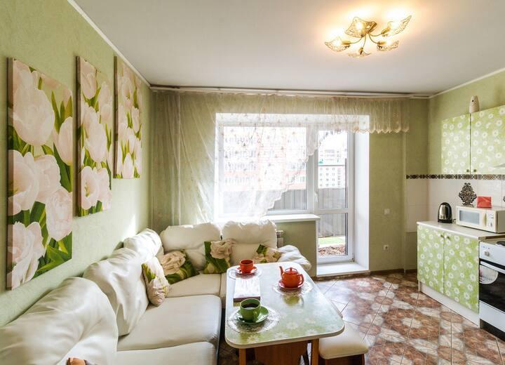 Просторная квартира в новом доме по ул.  Дианова.