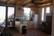 Kitchen looking to back patio