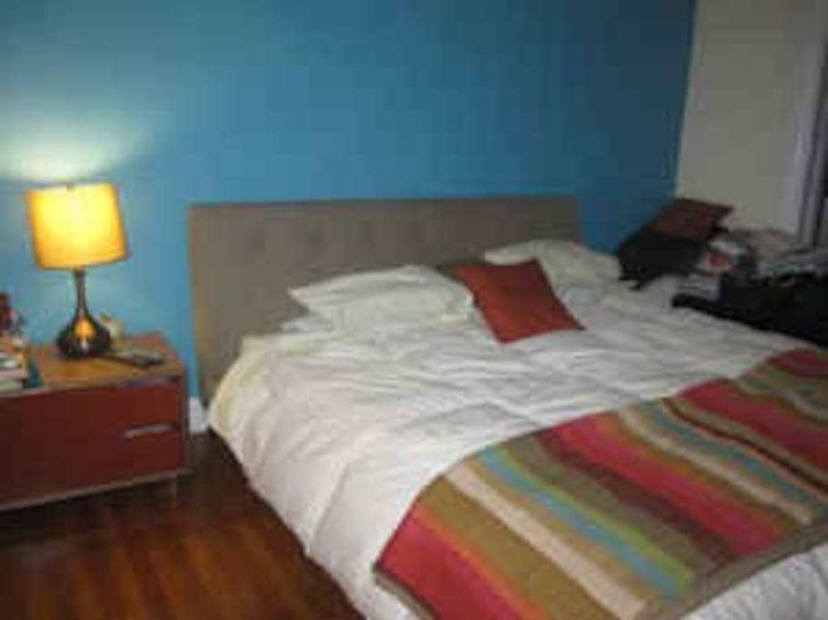 Master bedroom. Has Flat screen TV, premium cable. California King bed.