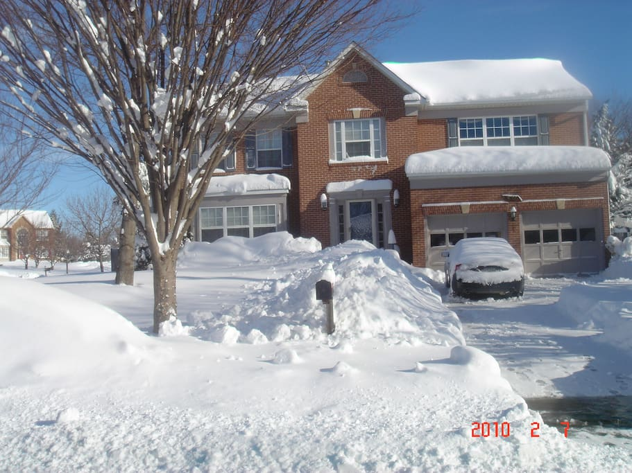 Front of house-Blizzard of 2010