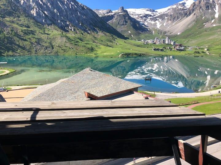 Palafour 4 pers balcon sud superbe vue lac