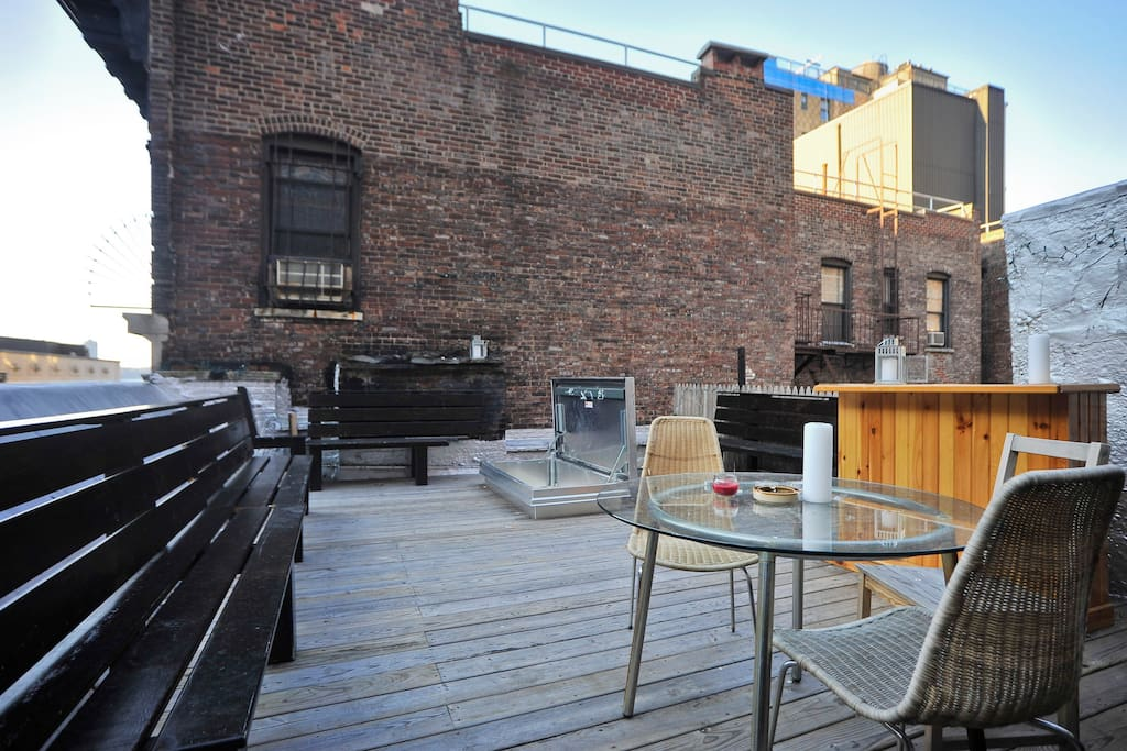 This is the roof terrace -- completely private.