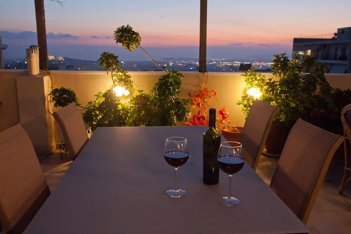 Amazing view - 3 bedr. sleep 6-8/p - Atenes - Pis