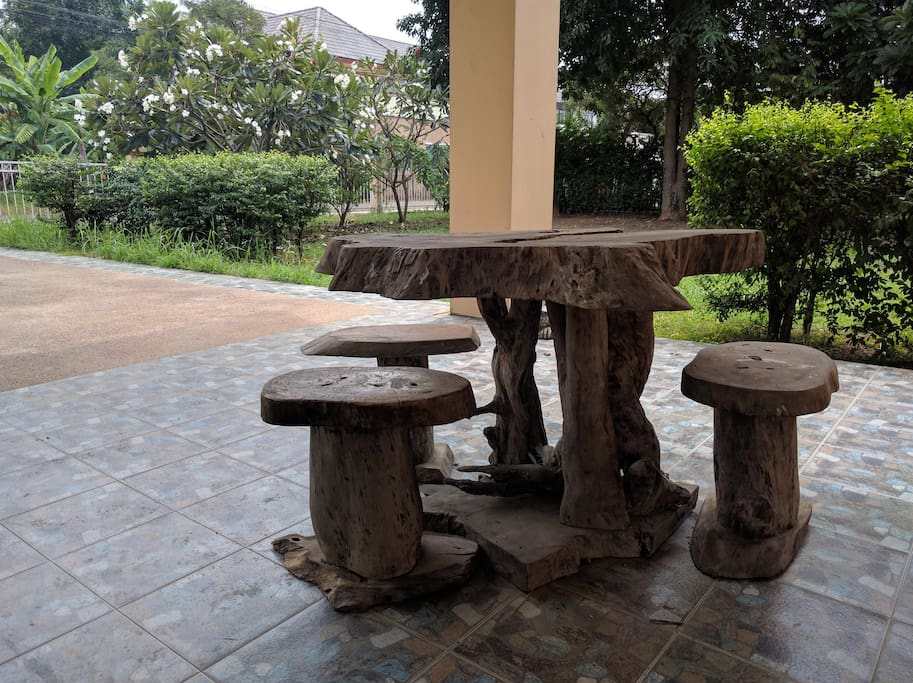 Tables at the front door