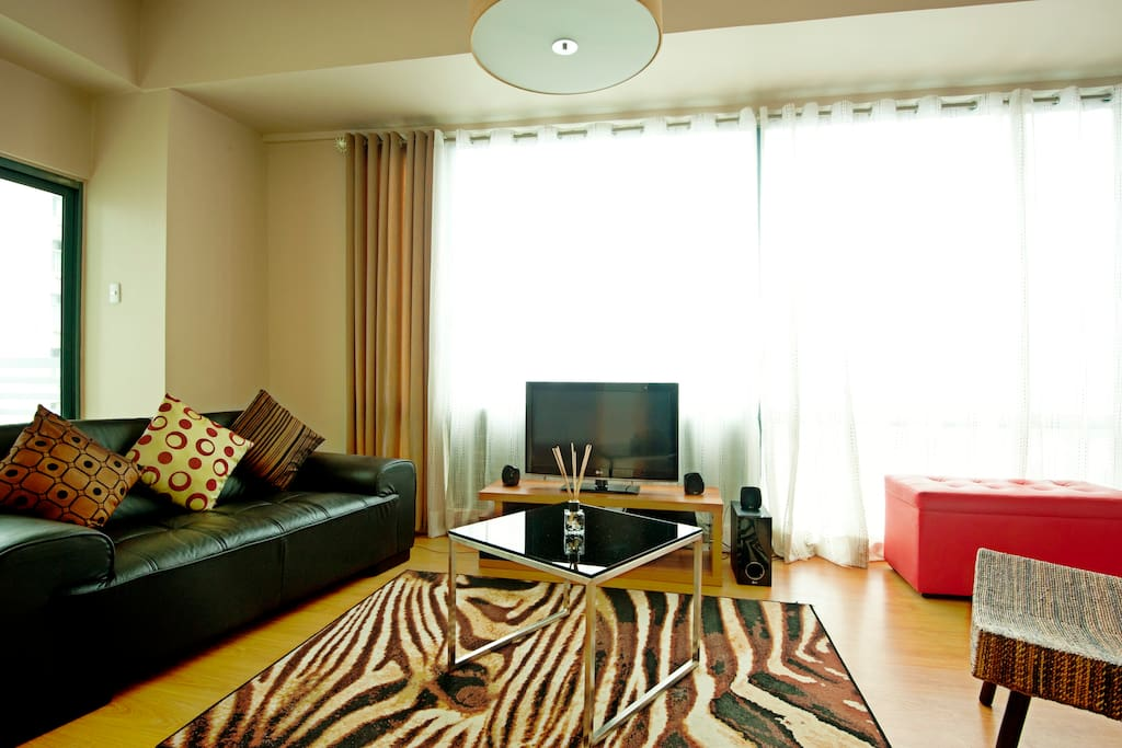 Living room area with LCD TV/entertainment system