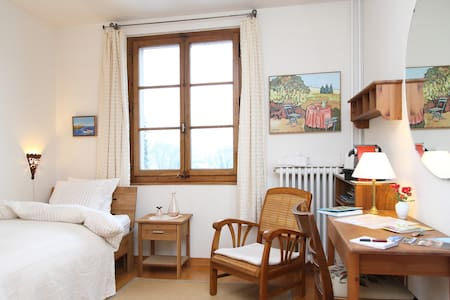 SINGLE ROOM, FREE BUS PASS - Genève