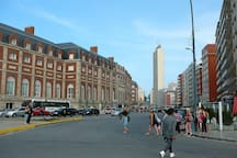 View from Colón square, which is located 4 blocks from the building. On the left, the Hotel Provincial and at the back the Havana building, two landmarks of the city.