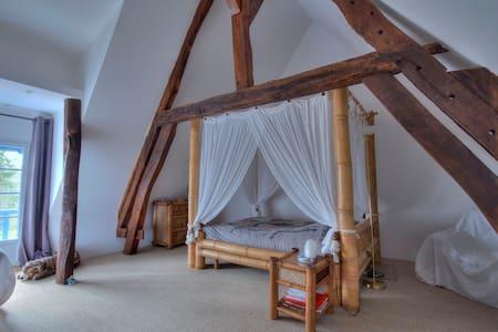 Chambre zen dans maison de charme. - Saint-Bouize
