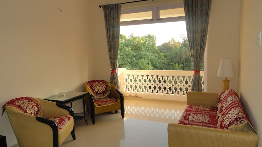 Spacious Living Room with attached balcony