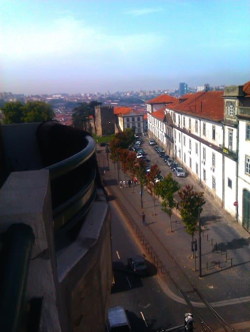Sunny bedroom at center of Porto