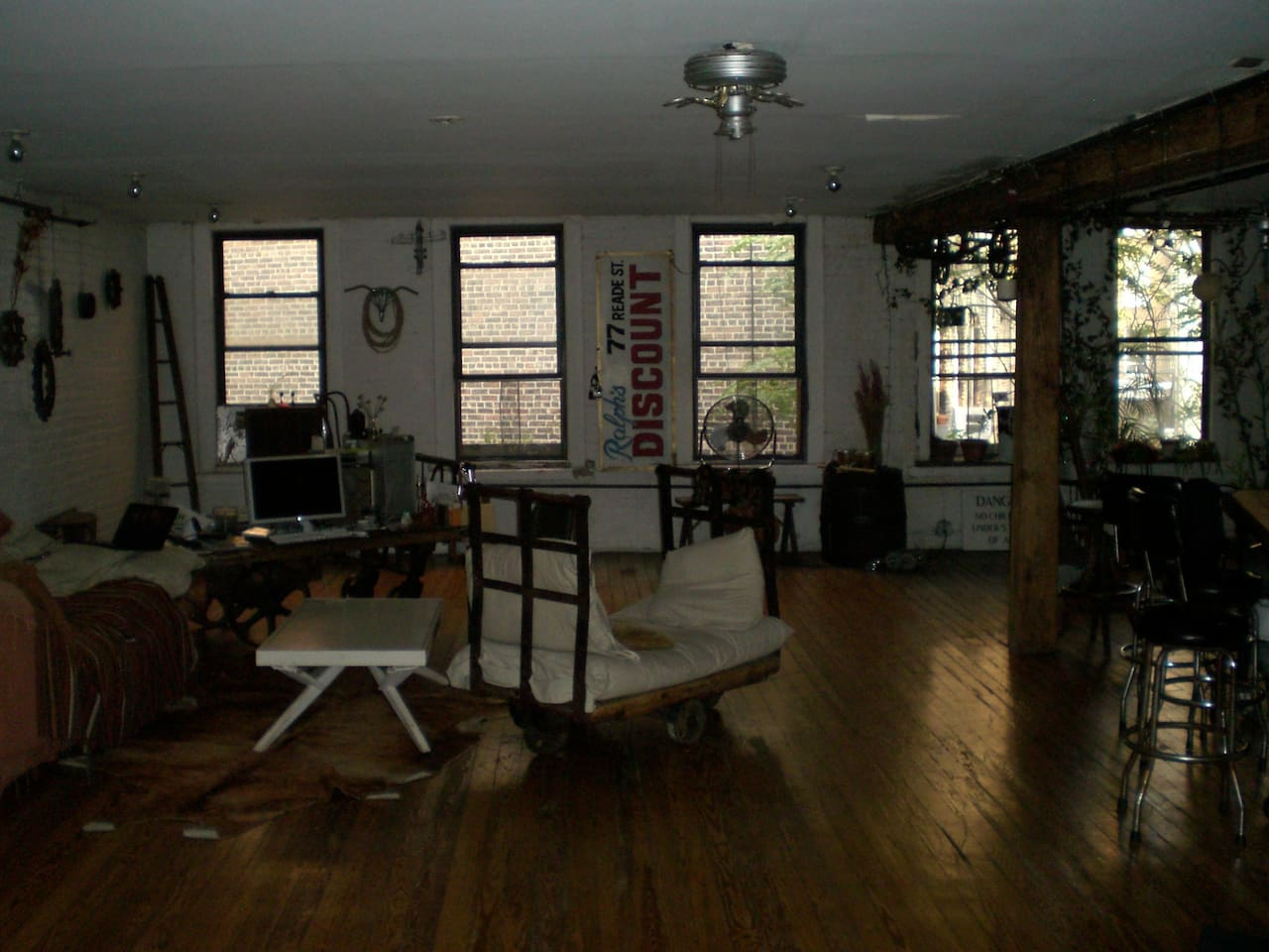 Big, very quiet, living room/kitchen where you can relax from NYC's energy -- and get ready to go out again!