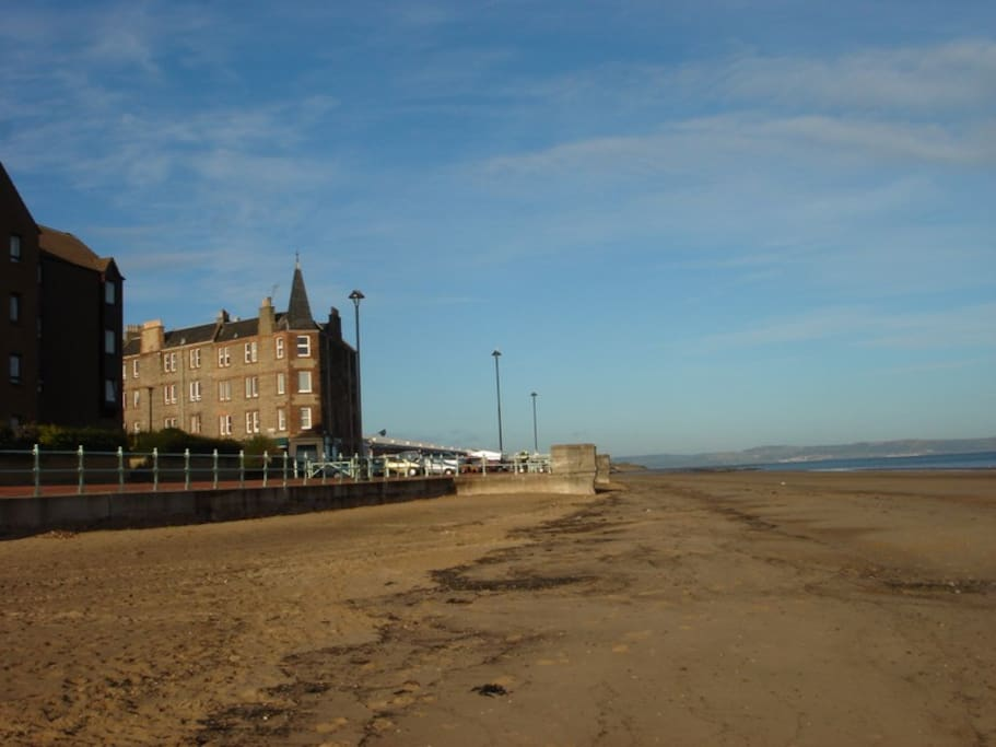 The only mile long white sand beach in Edinburgh