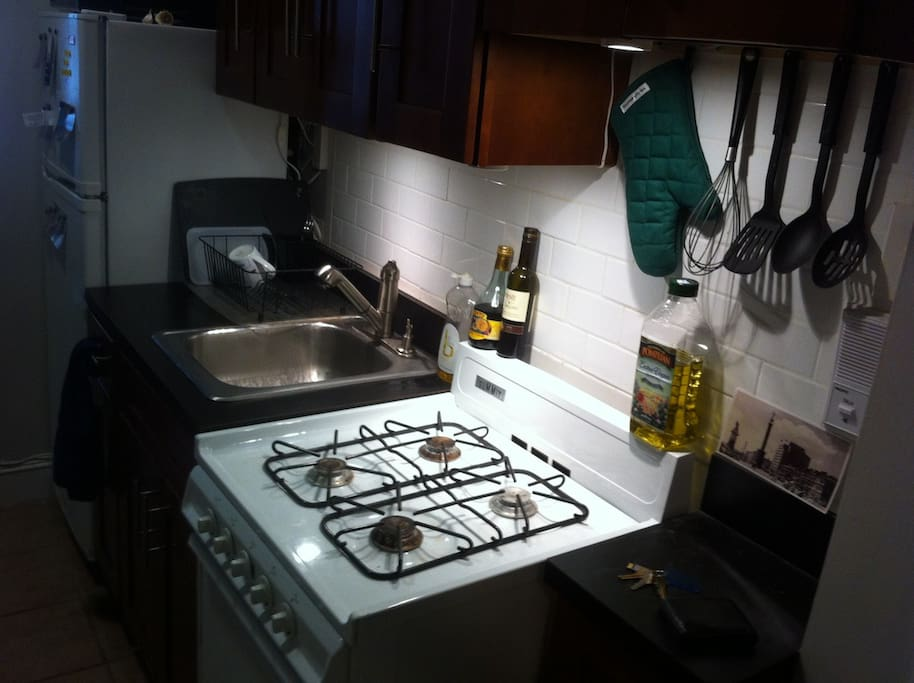 My small but fully functional kitchen.