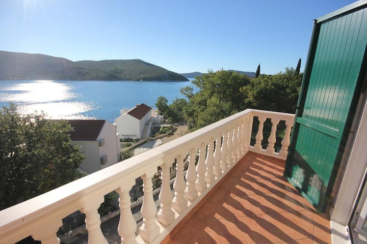 One bedroom apartment with balcony and sea view Slano, Dubrovnik (A-2681-a)