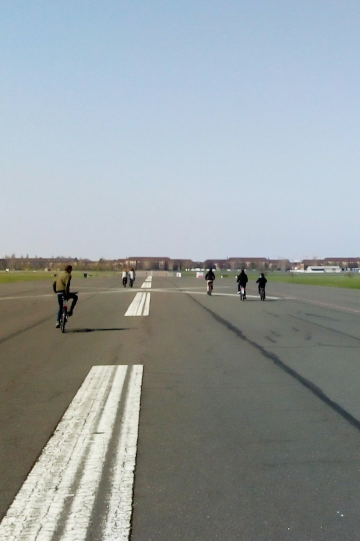 Cycling on a former runway!