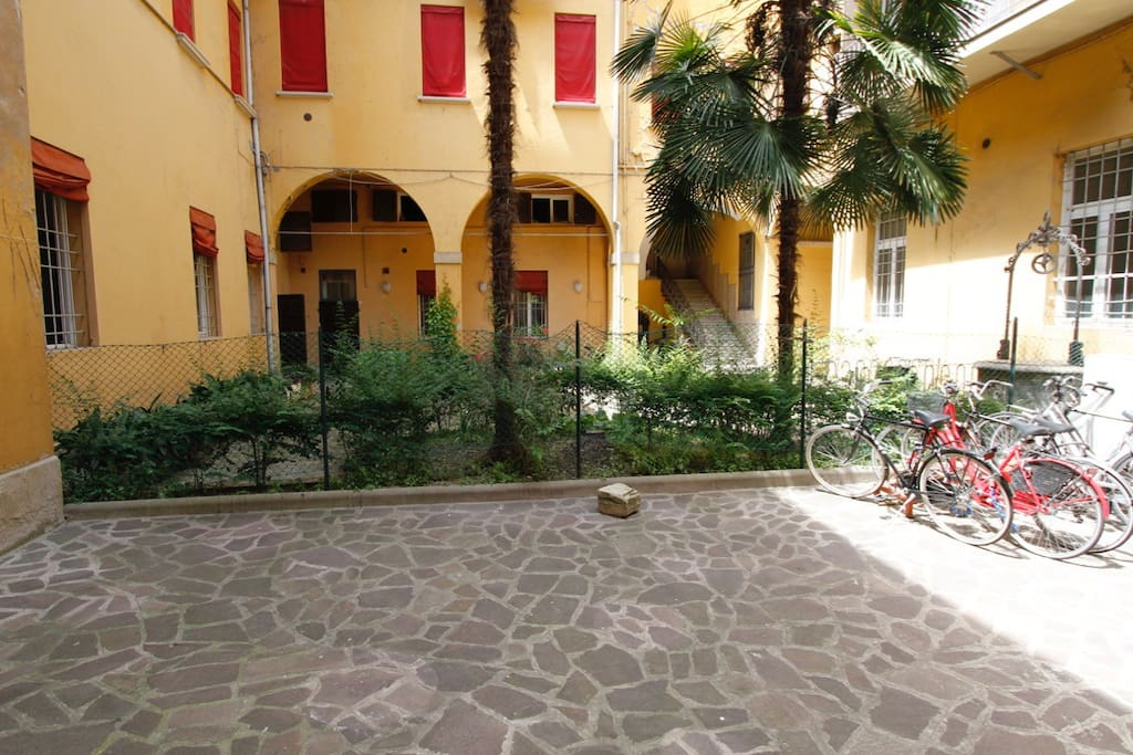 View on the Courtyard and Bicycles Parking
