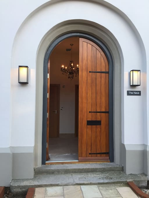 Double door entrance to The Nave