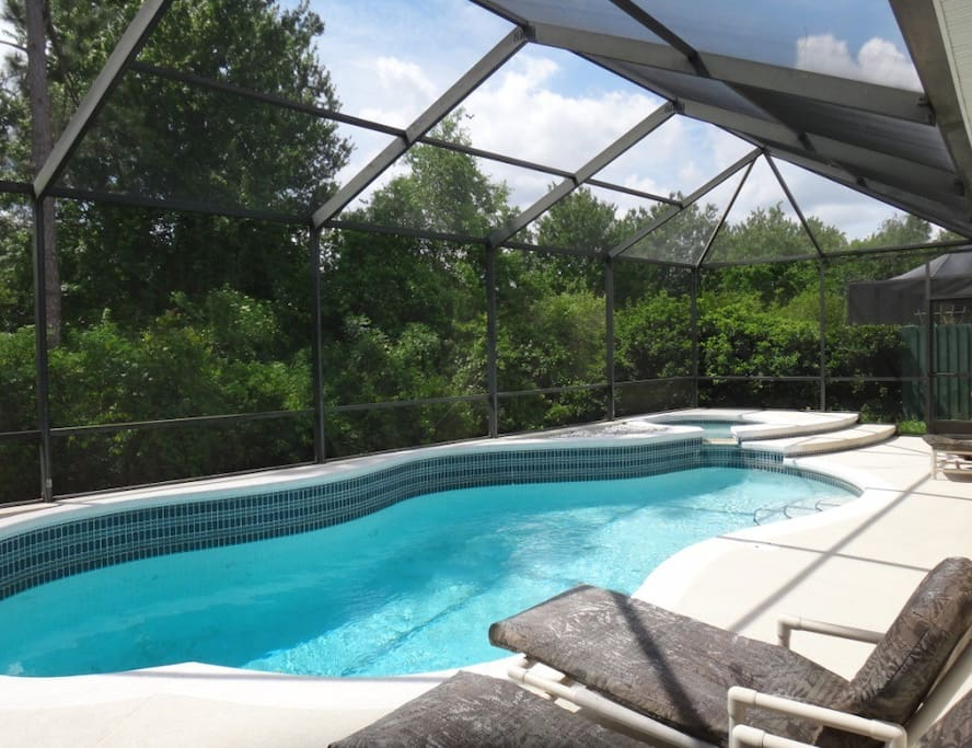 Private Pool overlooking conservation area