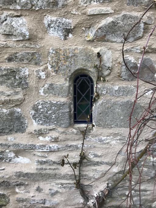 17th Century window built into the porch.