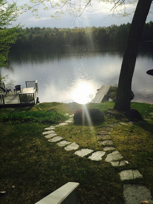 A view from our deck with the morning sun.